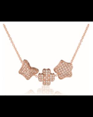 Tre`s Jolie Rose Gold Charms Necklace