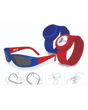 iFly Kids Bendable Sunglasses & Slap On Watch Set