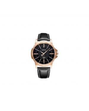 Yazole Mens Watch - Black Dial with Black Strap - Gents